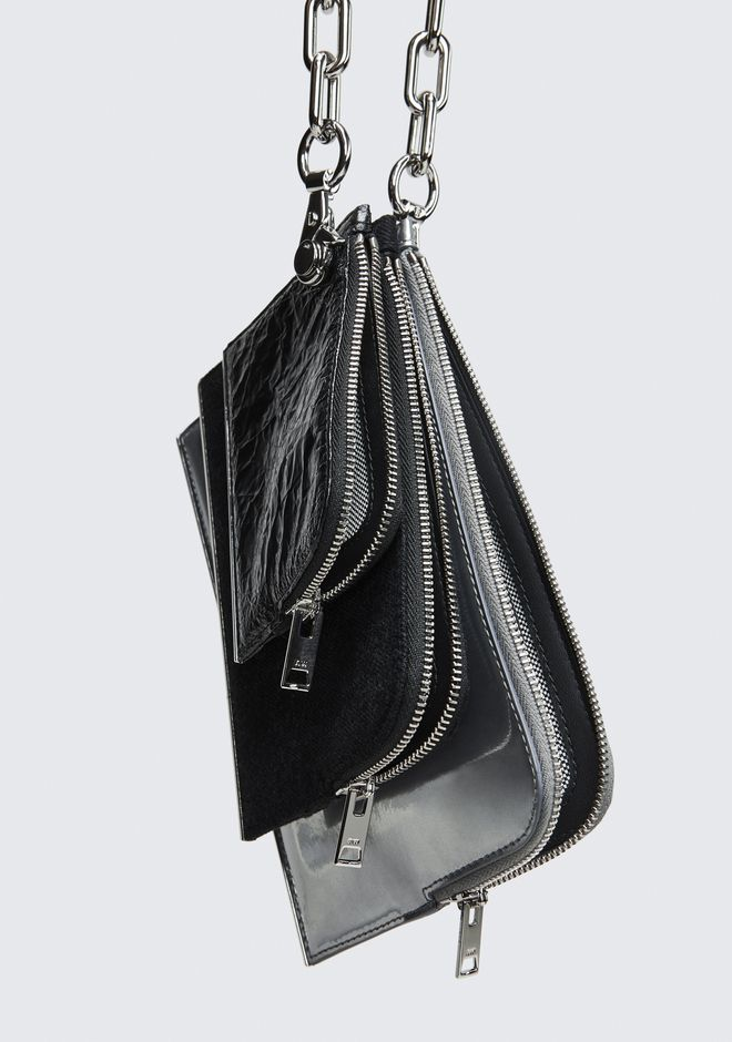 ALEXANDER WANG DIME TRIPLE ZIP POUCH CLUTCH Adult 12_n_d