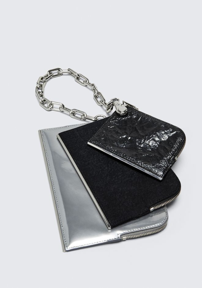ALEXANDER WANG DIME TRIPLE ZIP POUCH CLUTCH Adult 12_n_e