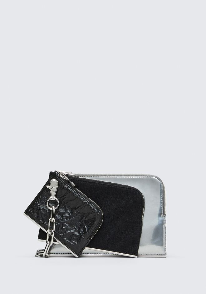 ALEXANDER WANG DIME TRIPLE ZIP POUCH CLUTCH Adult 12_n_f