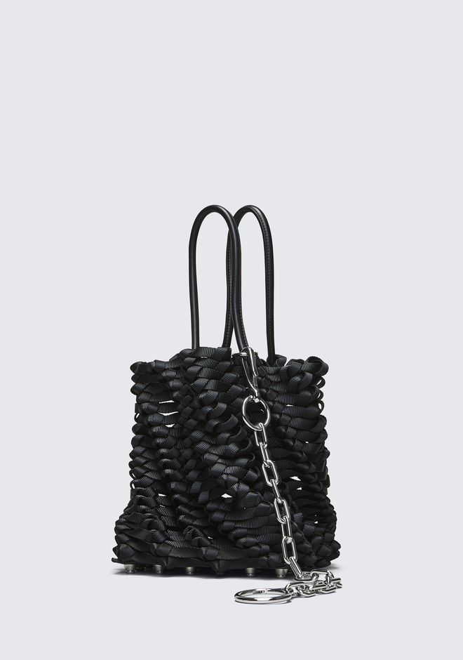 ALEXANDER WANG WEAVED SMALL ROXY BUCKET TOTE  CLUTCH Adult 12_n_d