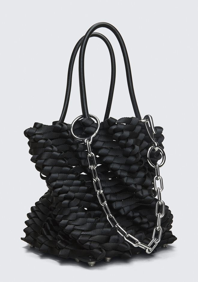 ALEXANDER WANG WEAVED SMALL ROXY BUCKET TOTE  POCHETTE Adult 12_n_e