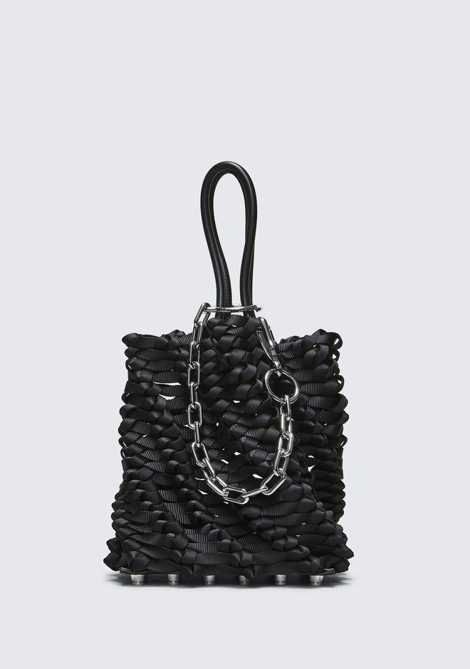 ALEXANDER WANG WEAVED SMALL ROXY BUCKET TOTE  POCHETTE Adult 12_n_f