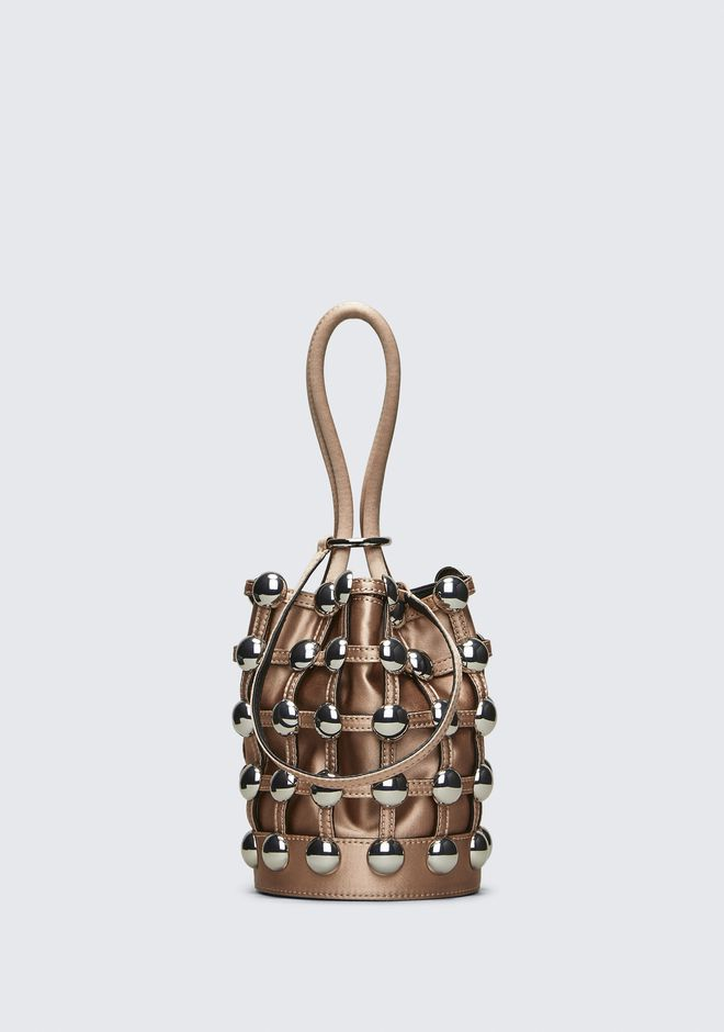 ALEXANDER WANG SATIN ROXY MINI BUCKET CLUTCH Adult 12_n_f