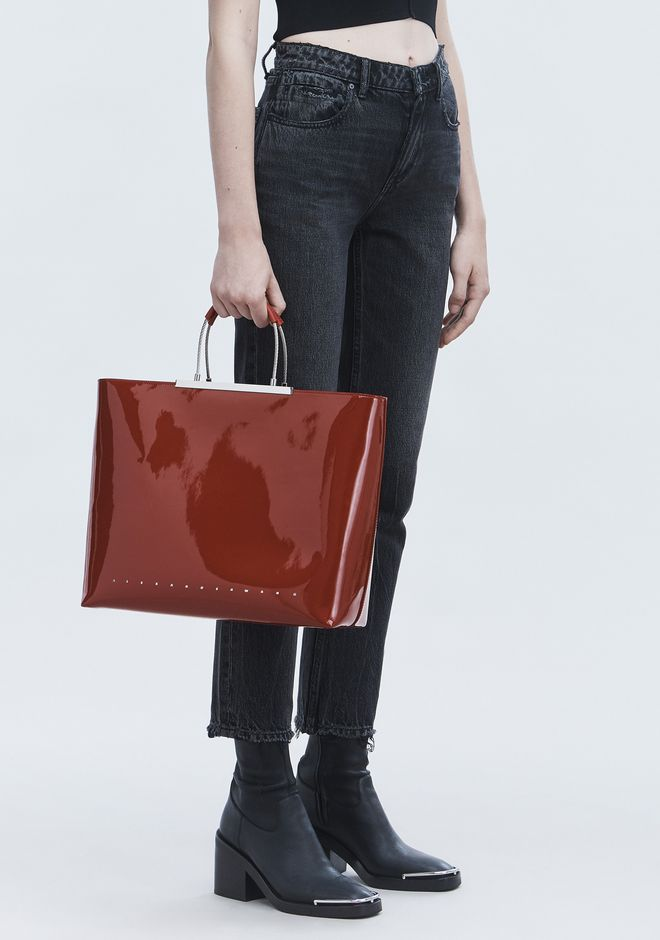ALEXANDER WANG PATENT DIME TOTE FOURRE-TOUT Adult 12_n_r