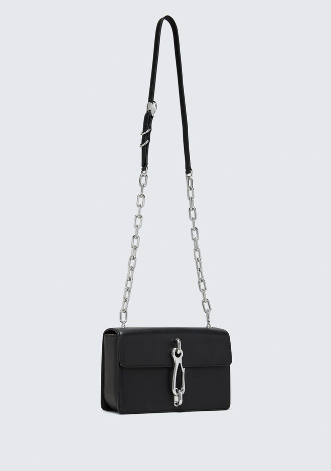 ALEXANDER WANG BLACK MEDIUM HOOK CROSS BODY 邮差包 Adult 12_n_e