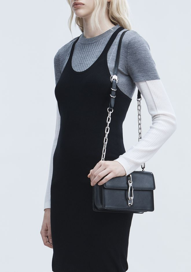 ALEXANDER WANG BLACK MEDIUM HOOK CROSS BODY 메신저 백 Adult 12_n_r