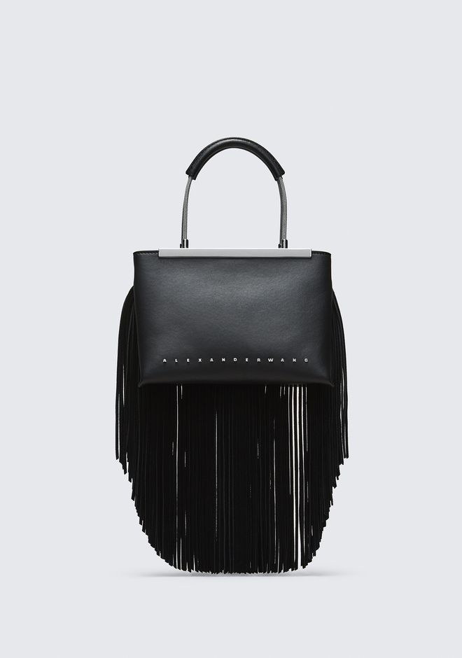 ALEXANDER WANG TOP HANDLE BAGS FRINGE DIME SMALL SATCHEL