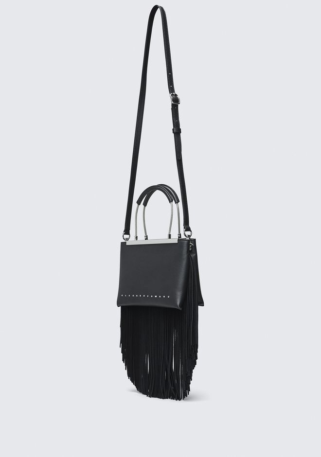 ALEXANDER WANG FRINGE DIME SMALL SATCHEL TOP HANDLE BAG Adult 12_n_e