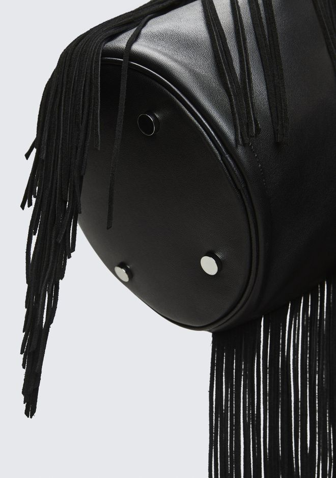 ALEXANDER WANG FRINGE ATTICA DRY SACK TOP HANDLE BAG Adult 12_n_a