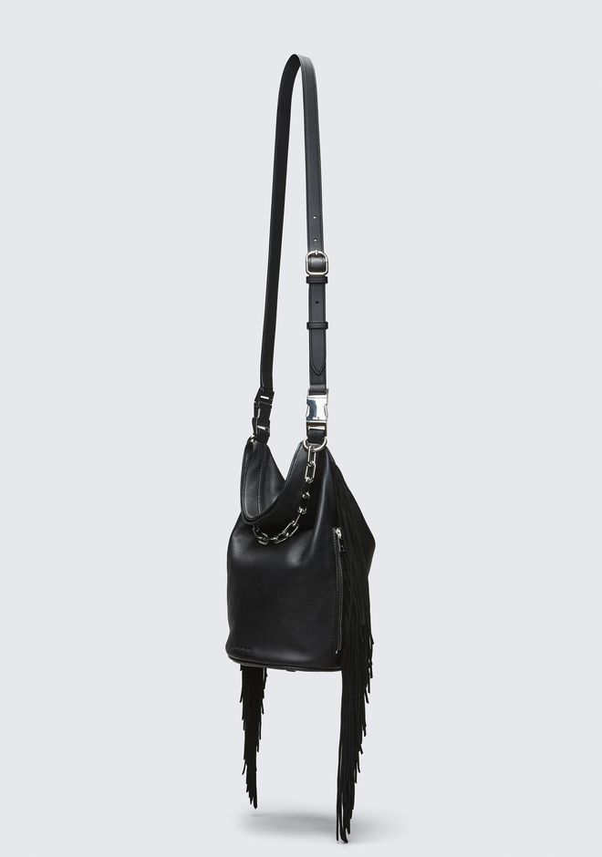 ALEXANDER WANG FRINGE ATTICA DRY SACK TOP HANDLE BAG Adult 12_n_d