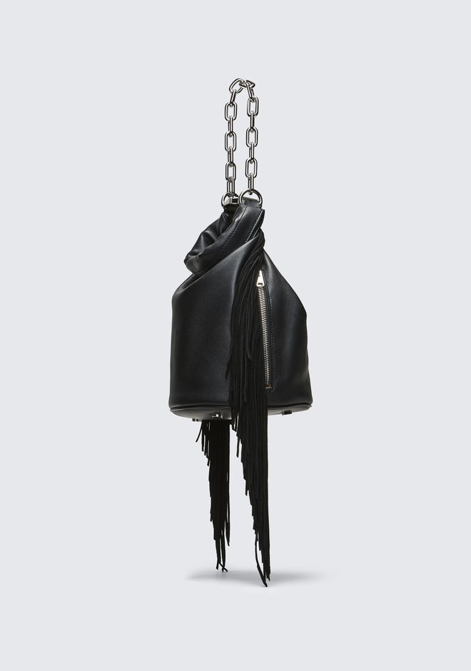 ALEXANDER WANG FRINGE ATTICA DRY SACK TOP HANDLE BAG Adult 12_n_e