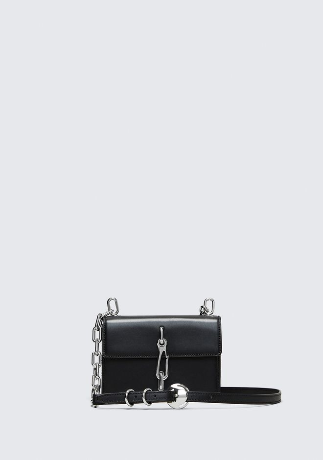 ALEXANDER WANG mini-bags BLACK SMALL HOOK CROSS BODY