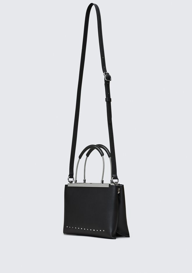 ALEXANDER WANG BLACK DIME SMALL SATCHEL TOP HANDLE BAG Adult 12_n_e