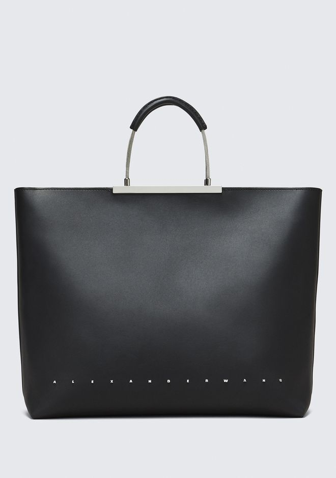 ALEXANDER WANG TOP HANDLE BAGS BLACK DIME TOTE