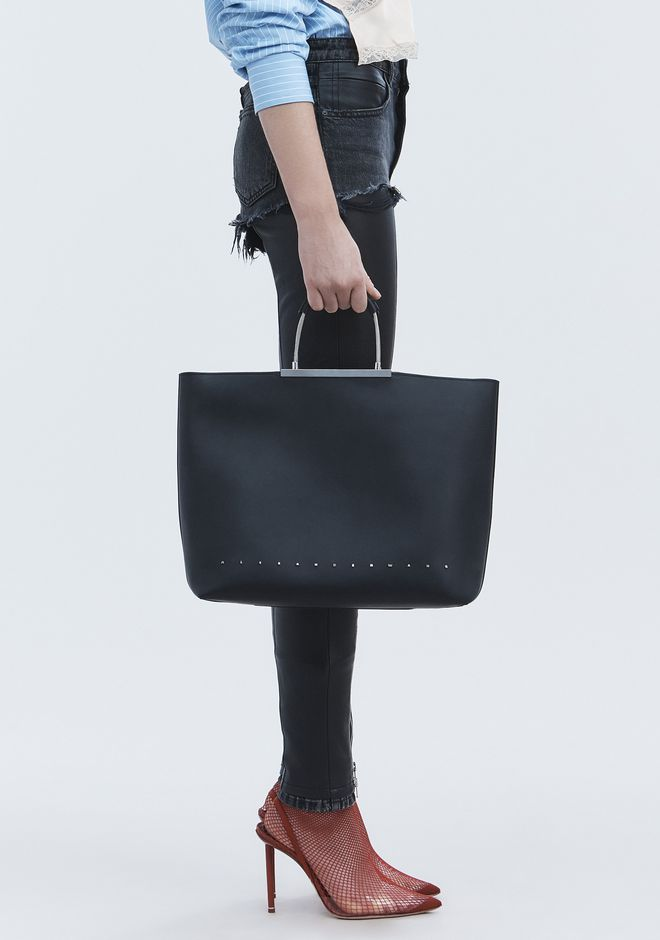 ALEXANDER WANG BLACK DIME TOTE TOP HANDLE BAG Adult 12_n_r