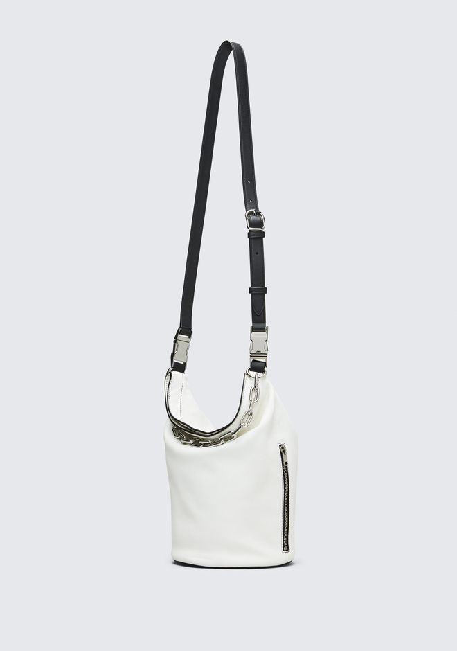 ALEXANDER WANG WHITE ATTICA DRY SACK TOP HANDLE BAG Adult 12_n_d