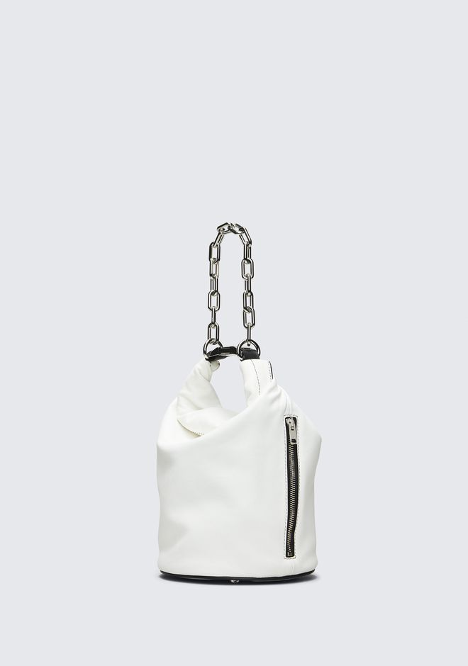 ALEXANDER WANG WHITE ATTICA DRY SACK TOP HANDLE BAGS Adult 12_n_e