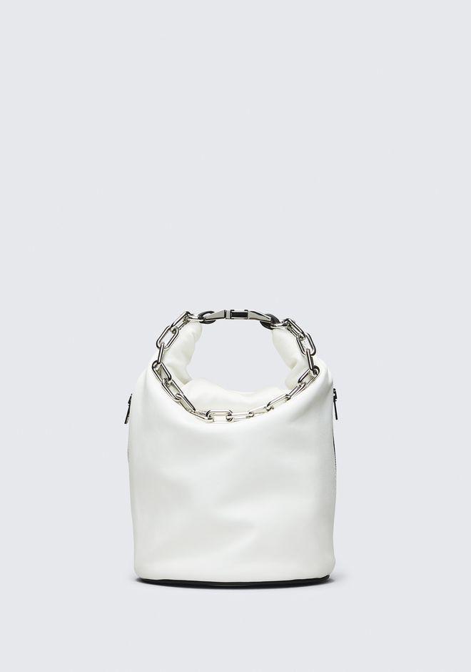 ALEXANDER WANG WHITE ATTICA DRY SACK TOP HANDLE BAG Adult 12_n_f
