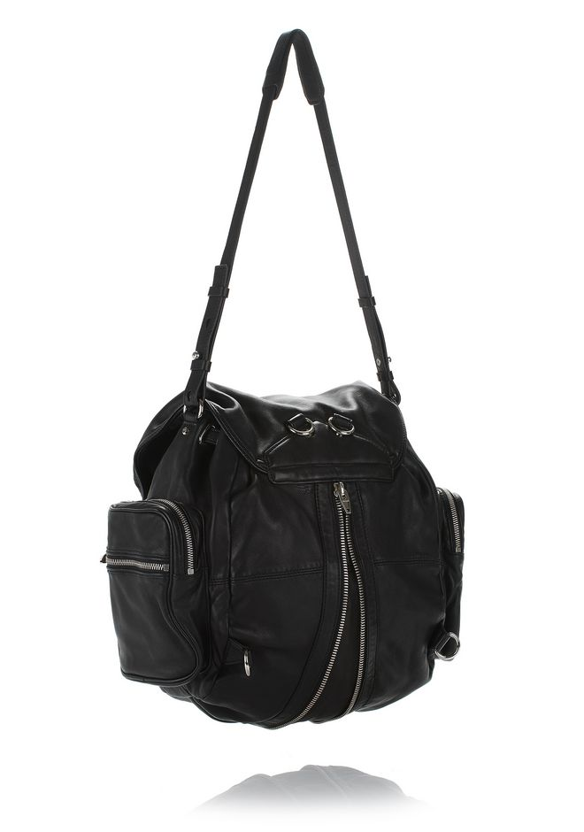 ALEXANDER WANG MARTI BACKPACK IN WASHED BLACK WITH RHODIUM BACKPACK Adult 12_n_a