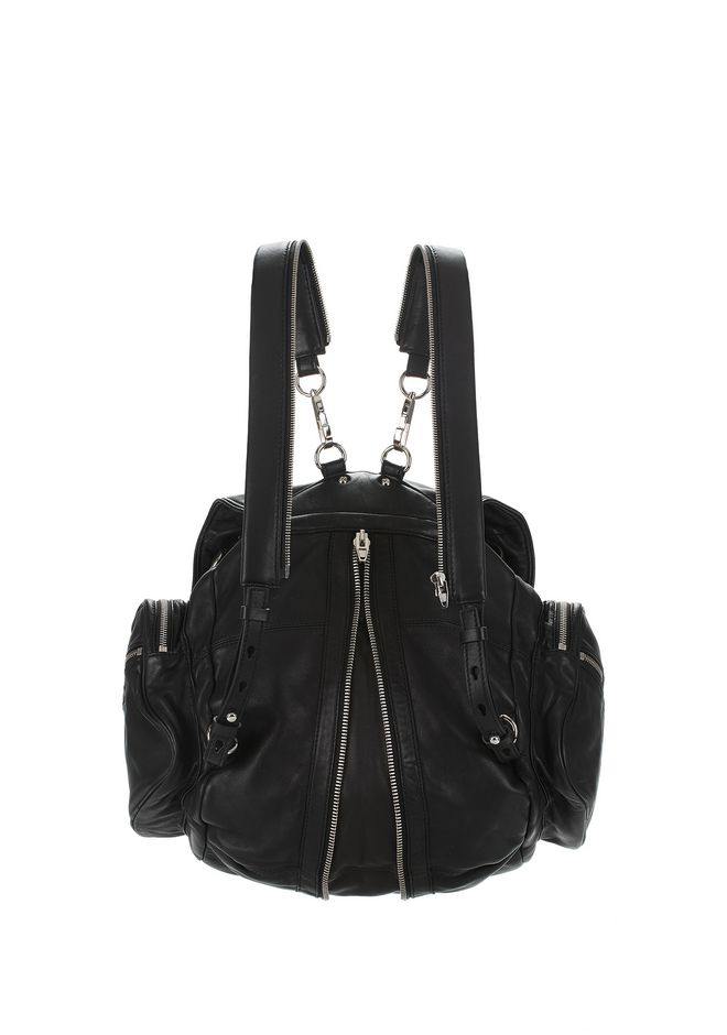 ALEXANDER WANG MARTI BACKPACK IN WASHED BLACK WITH RHODIUM BACKPACK Adult 12_n_e