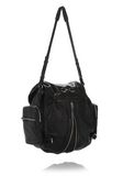 ALEXANDER WANG MARTI BACKPACK IN WASHED BLACK WITH RHODIUM BACKPACK Adult 8_n_a