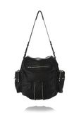 ALEXANDER WANG MARTI BACKPACK IN WASHED BLACK WITH RHODIUM BACKPACK Adult 8_n_d