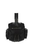 ALEXANDER WANG MARTI BACKPACK IN WASHED BLACK WITH RHODIUM BACKPACK Adult 8_n_f