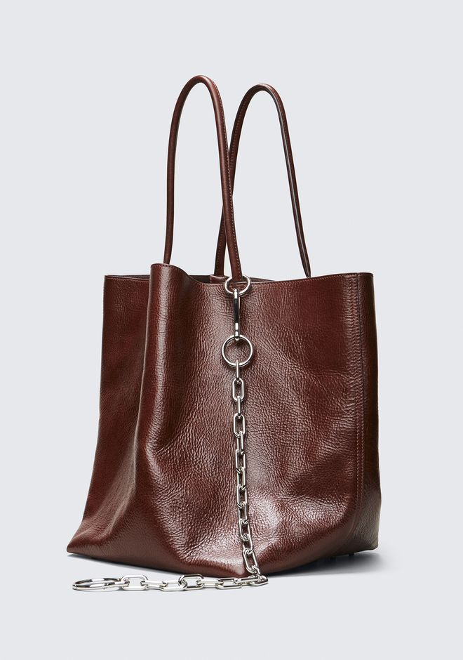 ALEXANDER WANG CRANBERRY ROXY LARGE BUCKET TOTE TOTE Adult 12_n_d