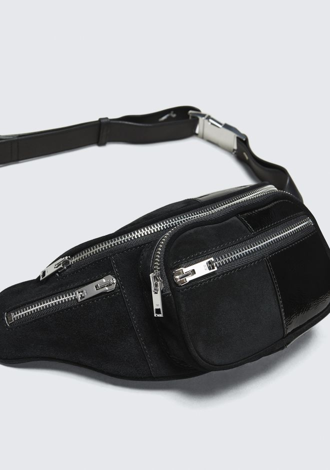 ALEXANDER WANG SUEDE AND PATENT ATTICA FANNY PACK  Shoulder bag Adult 12_n_a