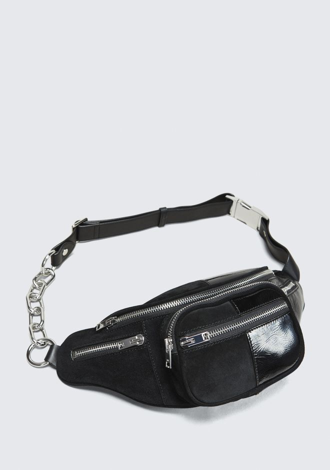 ALEXANDER WANG SUEDE AND PATENT ATTICA FANNY PACK  Shoulder bag Adult 12_n_e