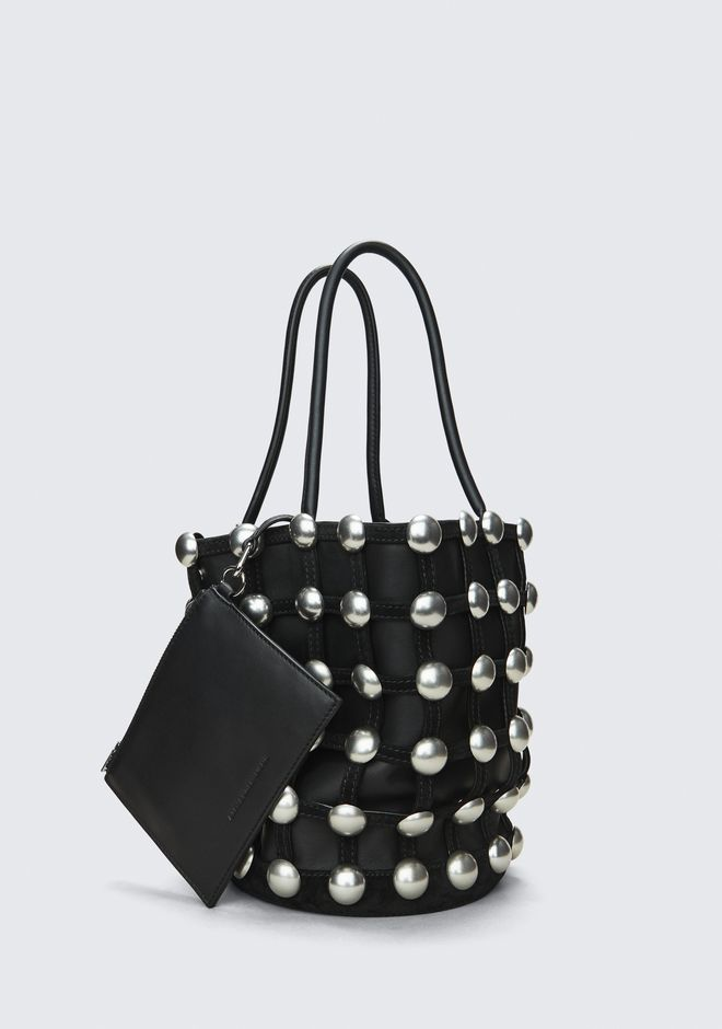 ALEXANDER WANG ROXY CAGE LARGE BUCKET  CLUTCH Adult 12_n_d