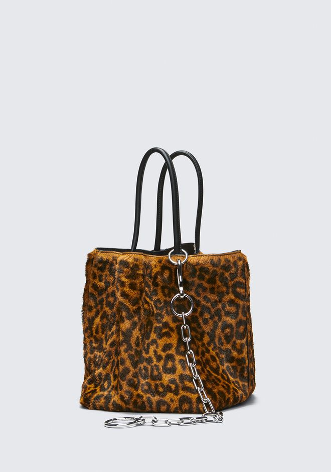 ALEXANDER WANG LEOPARD ROXY SMALL BUCKET TOTE CLUTCH Adult 12_n_d
