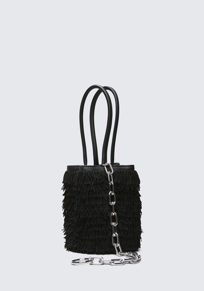 ALEXANDER WANG FRINGE ROXY MINI BUCKET  CLUTCH Adult 12_n_d
