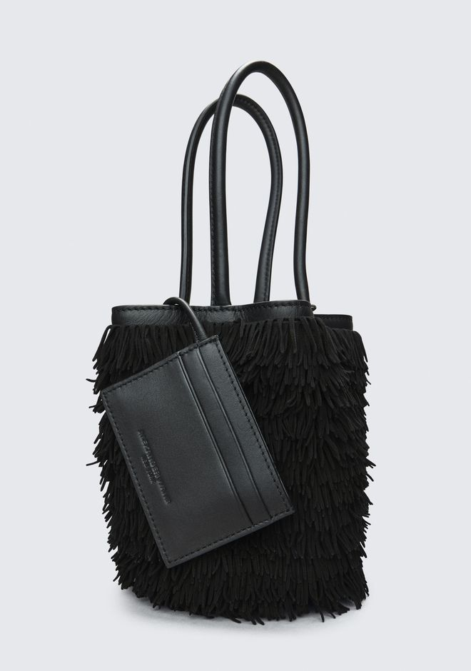 ALEXANDER WANG FRINGE ROXY MINI BUCKET  CLUTCH Adult 12_n_e