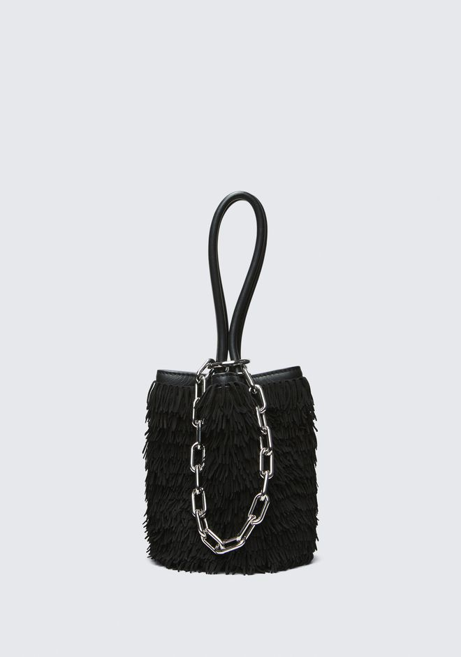 ALEXANDER WANG FRINGE ROXY MINI BUCKET  CLUTCH Adult 12_n_f