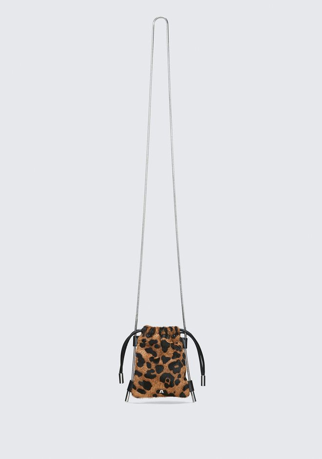 ALEXANDER WANG mini-bags RYAN LEOPARD NECK POUCH