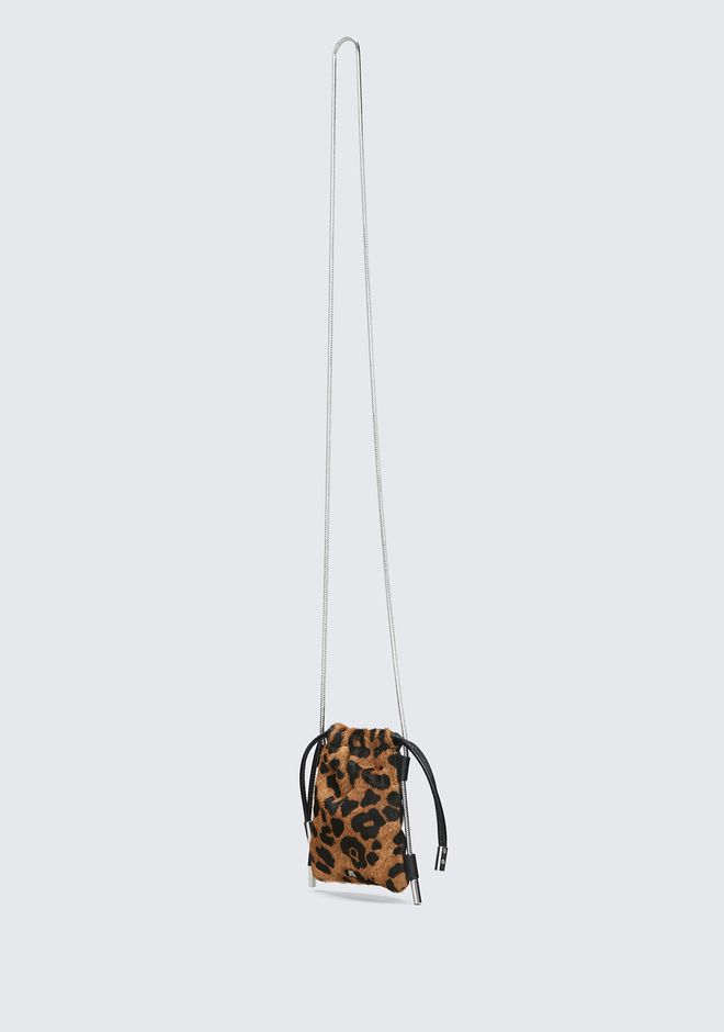 ALEXANDER WANG RYAN LEOPARD NECK POUCH CLUTCH Adult 12_n_a