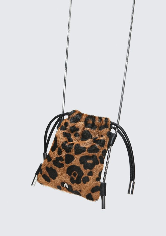 ALEXANDER WANG RYAN LEOPARD NECK POUCH CLUTCH Adult 12_n_e