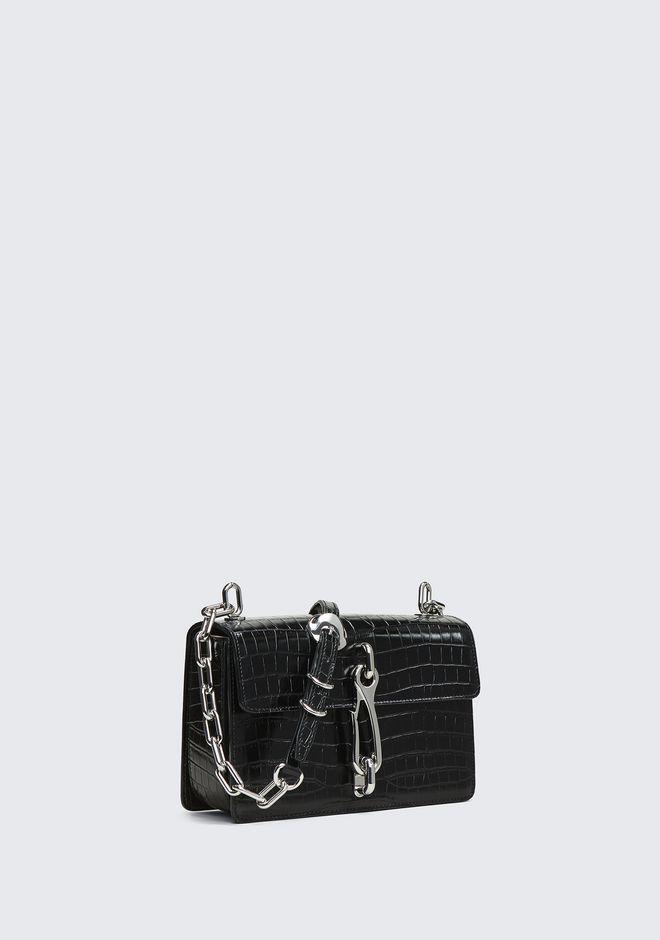ALEXANDER WANG EMBOSSED HOOK MEDIUM CROSSBODY CLUTCH Adult 12_n_d