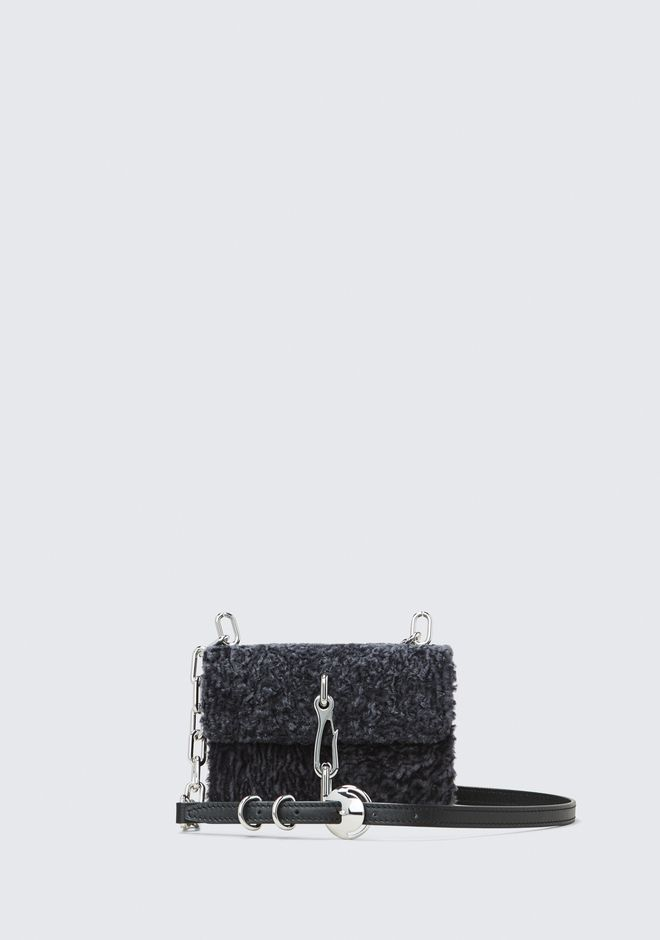 ALEXANDER WANG CLUTCHES SHEARLING HOOK SMALL CROSSBODY