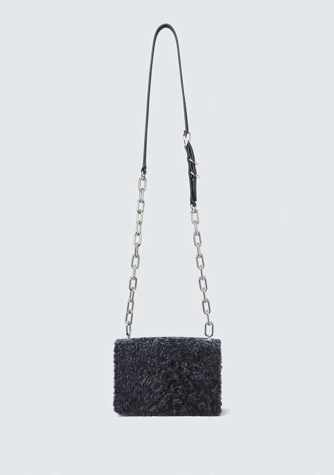 ALEXANDER WANG SHEARLING HOOK SMALL CROSSBODY  CLUTCH Adult 12_n_a