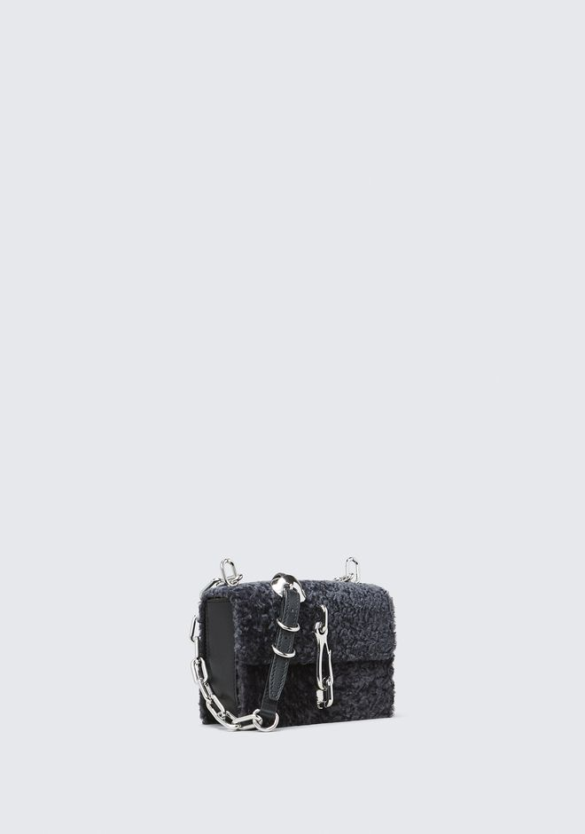 ALEXANDER WANG SHEARLING HOOK SMALL CROSSBODY  CLUTCH Adult 12_n_d