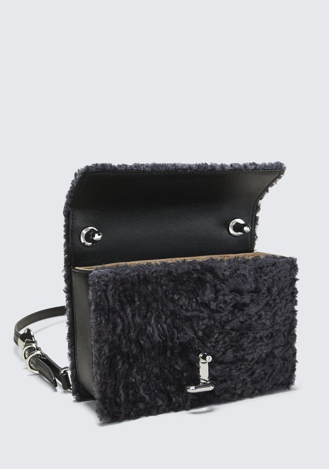 ALEXANDER WANG SHEARLING HOOK SMALL CROSSBODY  CLUTCH Adult 12_n_e