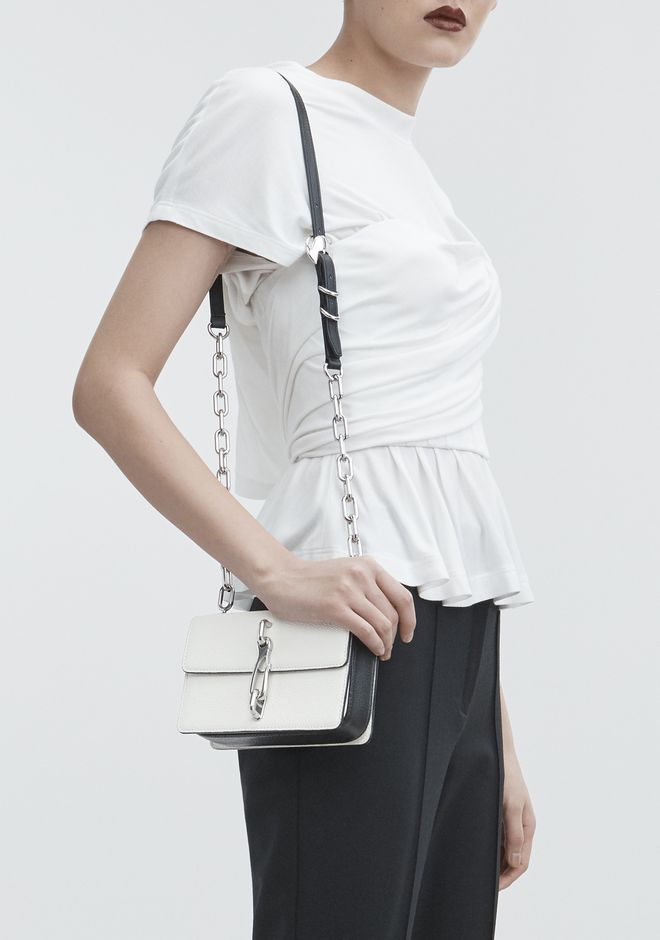 ALEXANDER WANG HOOK SMALL CROSSBODY IN WHITE Shoulder bag Adult 12_n_r
