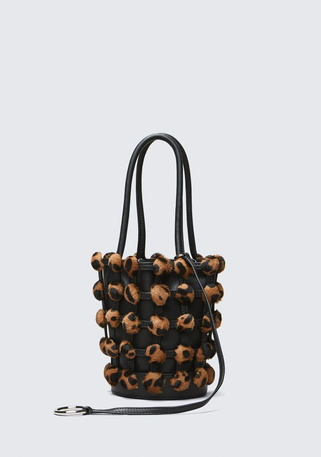 ALEXANDER WANG CAGED ROXY MINI BUCKET TOP HANDLE BAG Adult 12_n_d