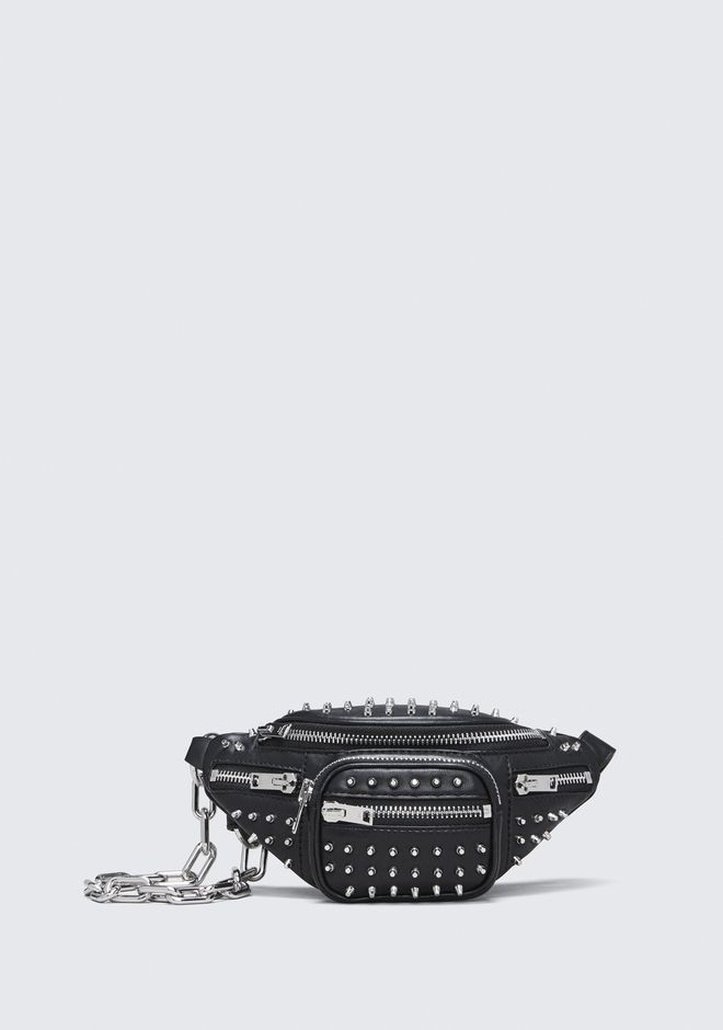 Attica Studded Lambskin Leather Fanny Pack - Black