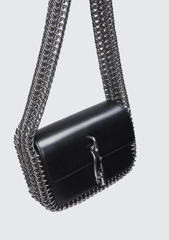 ALEXANDER WANG HOOK SMALL BOX CHAIN CROSSBODY CLUTCH Adult 12_n_a