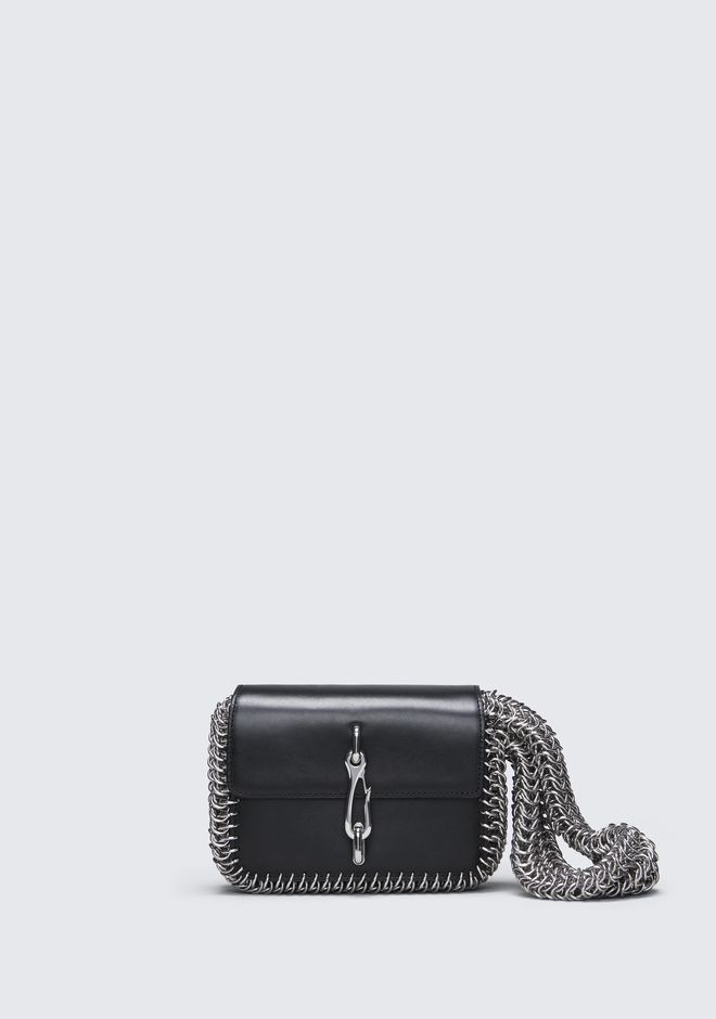 ALEXANDER WANG HOOK SMALL BOX CHAIN CROSSBODY CLUTCH Adult 12_n_f