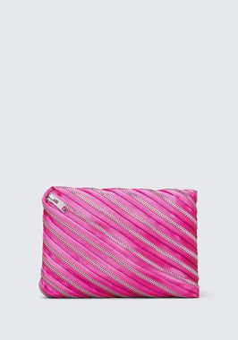 UNZIP SATIN CLUTCH