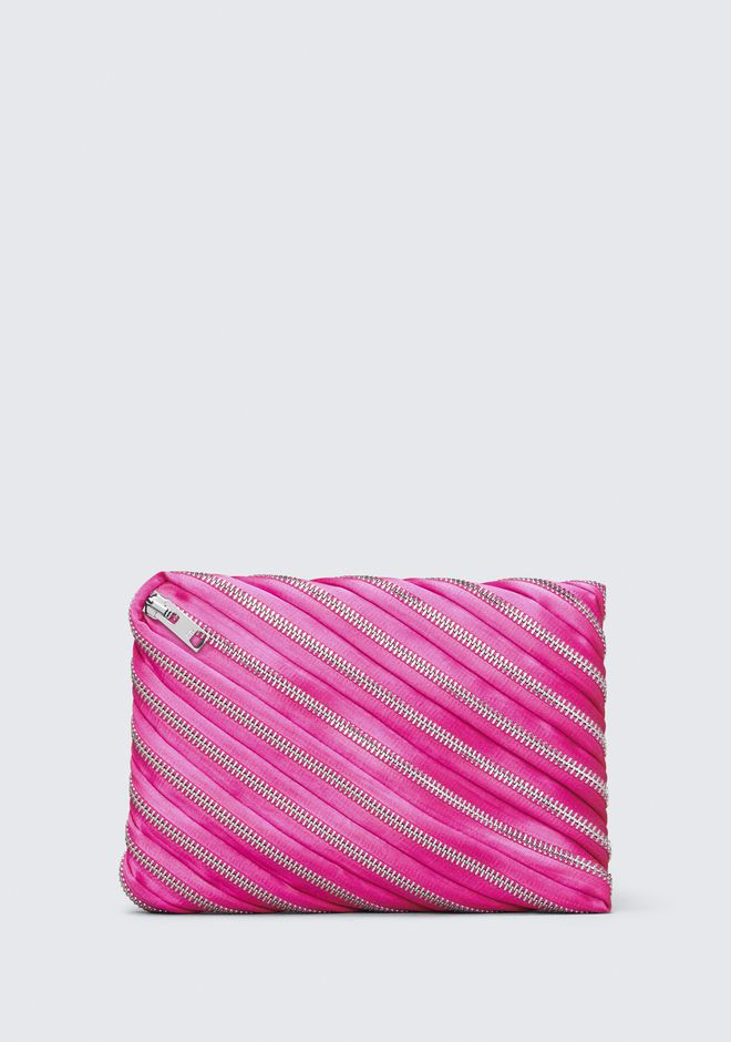 ALEXANDER WANG accessories UNZIP SATIN CLUTCH